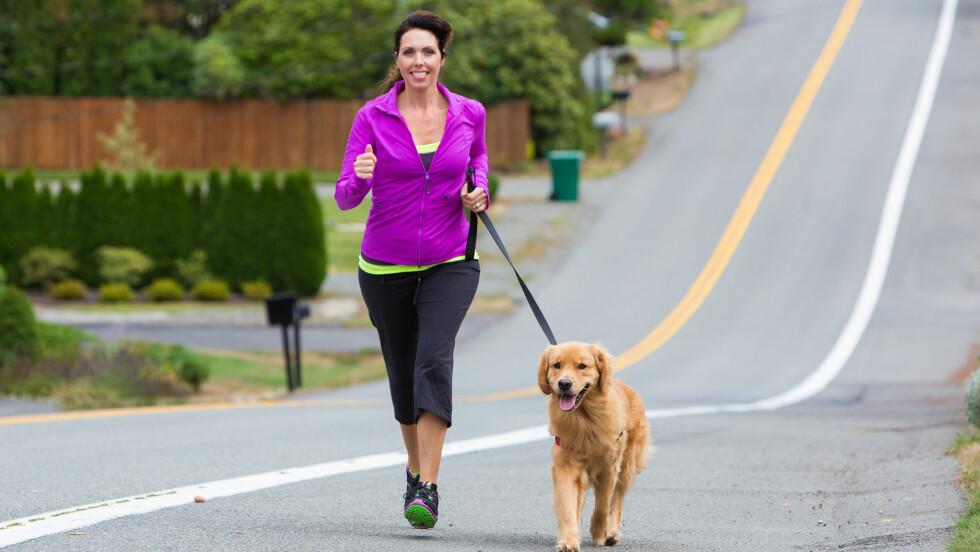 FORBRENNER MEST: Jogging er super trening hvis ikke du har så mye tid.  Foto: Mat Hayward - Fotolia