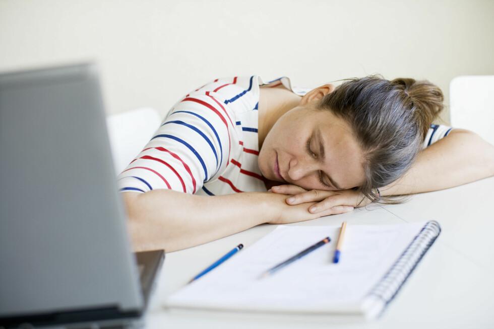 SØVNPROBLEM: Jobben din kan gi deg søvnproblemer, viser dansk metaforskning. Foto: Scanpix