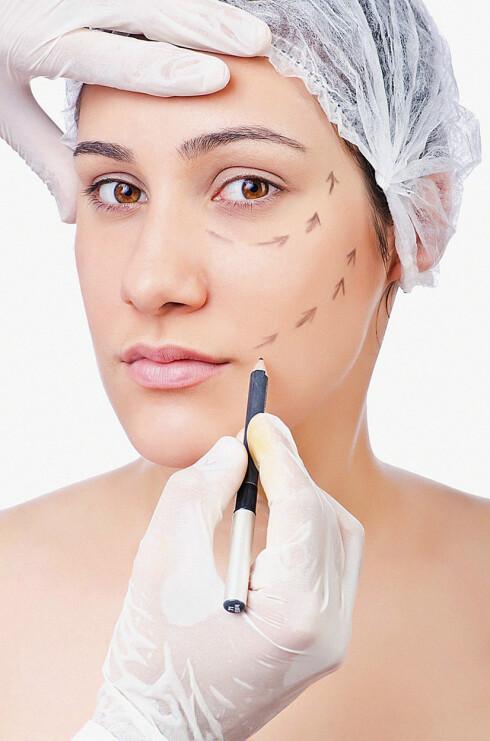 <strong>HALVPARTEN VIL OPERERE:</strong> I en undersøkelse gjort av YouGov i USA i fjor, oppga 49 prosent at de kunne tenke seg å betale for et inngrep som bedrer utseende.  Foto: Scanpix