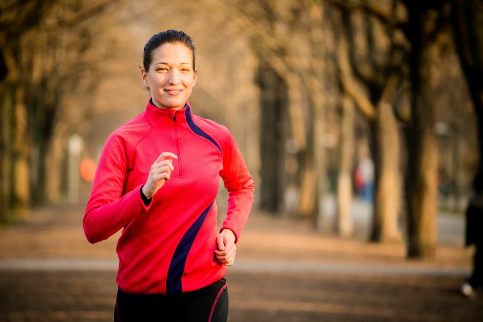 KLE DEG I RØDT: Visste du at rødt treningstøy kan øke energinivået ditt?  Foto: Martinan - Fotolia