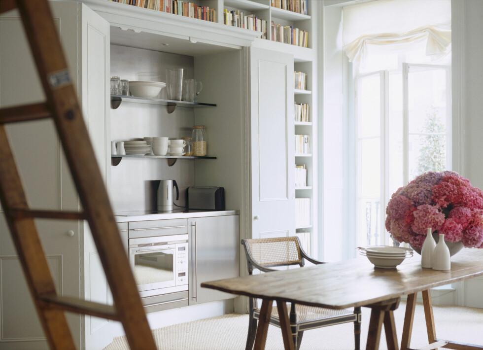<strong>INNEBYGD:</strong> Du trenger absolutt ikke kjempestor plass for å få et fint og funksjonelt kjøkken.  Foto: All Over Press