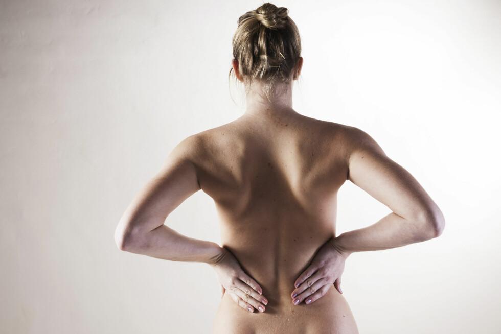 RYGGSMERTER: Om man ikke tar ryggsmerter alvorlig kan det føre til kroniske ryggsmerter. Foto: Scanpix