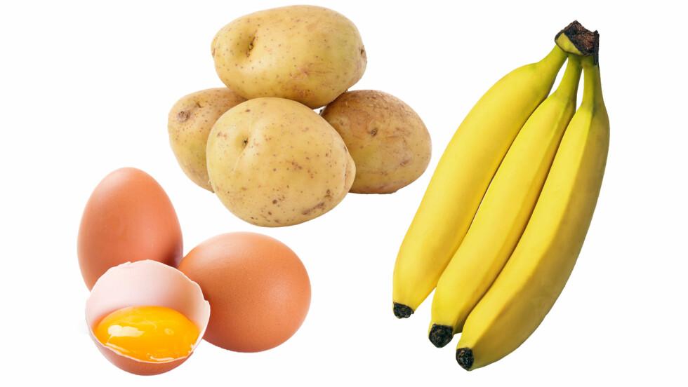 MATMYTER: Er du en av dem som tror at bananer er usunne? Da må du tro om igjen!  Foto: NTB Scanpix