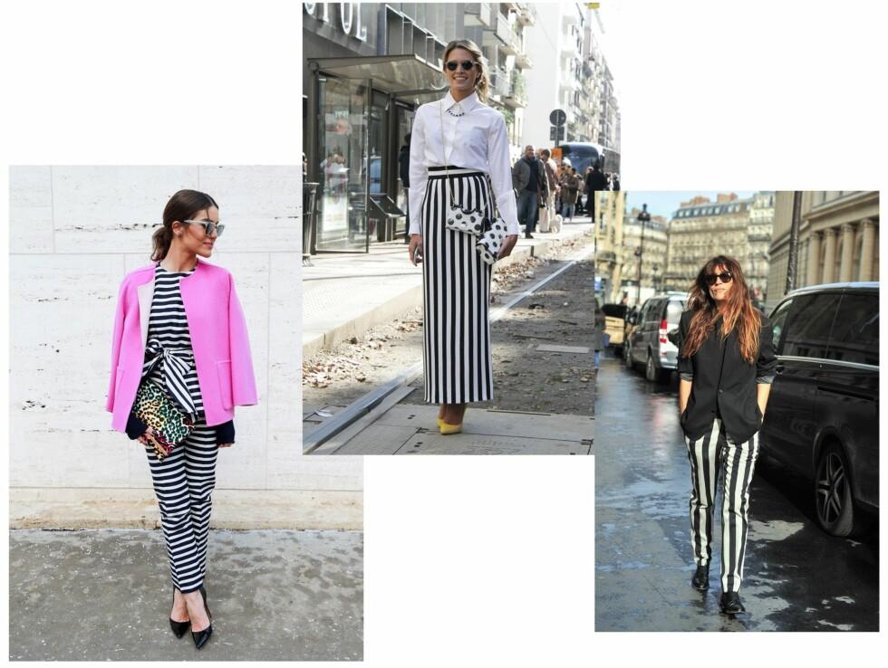 GATEMOTE: Gjør som streetstyle-jentene og bruk striper i sommer! Foto: Scanpix
