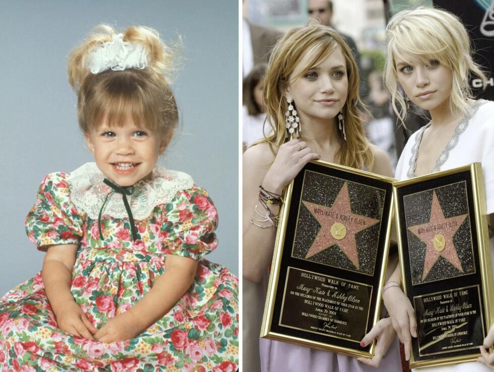 FRA FULL HOUSE TIL WALK OF FAME: Jentene fikk hver sin stjerne på Hollywood Walk of Fame i 2010. Foto: Scanpix