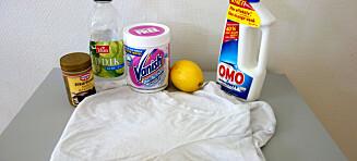 Bli kvitt gule svetteflekker