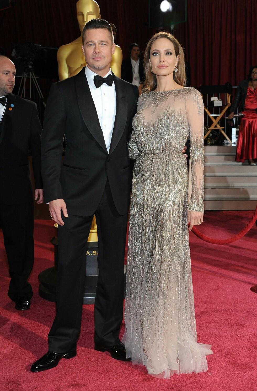 MØTTES I 2004: Angelina Jolie og Brad Pitt møttes på filmsettet til thrilleren «Mr and Mrs Smith» i 2004. Foto: Afp