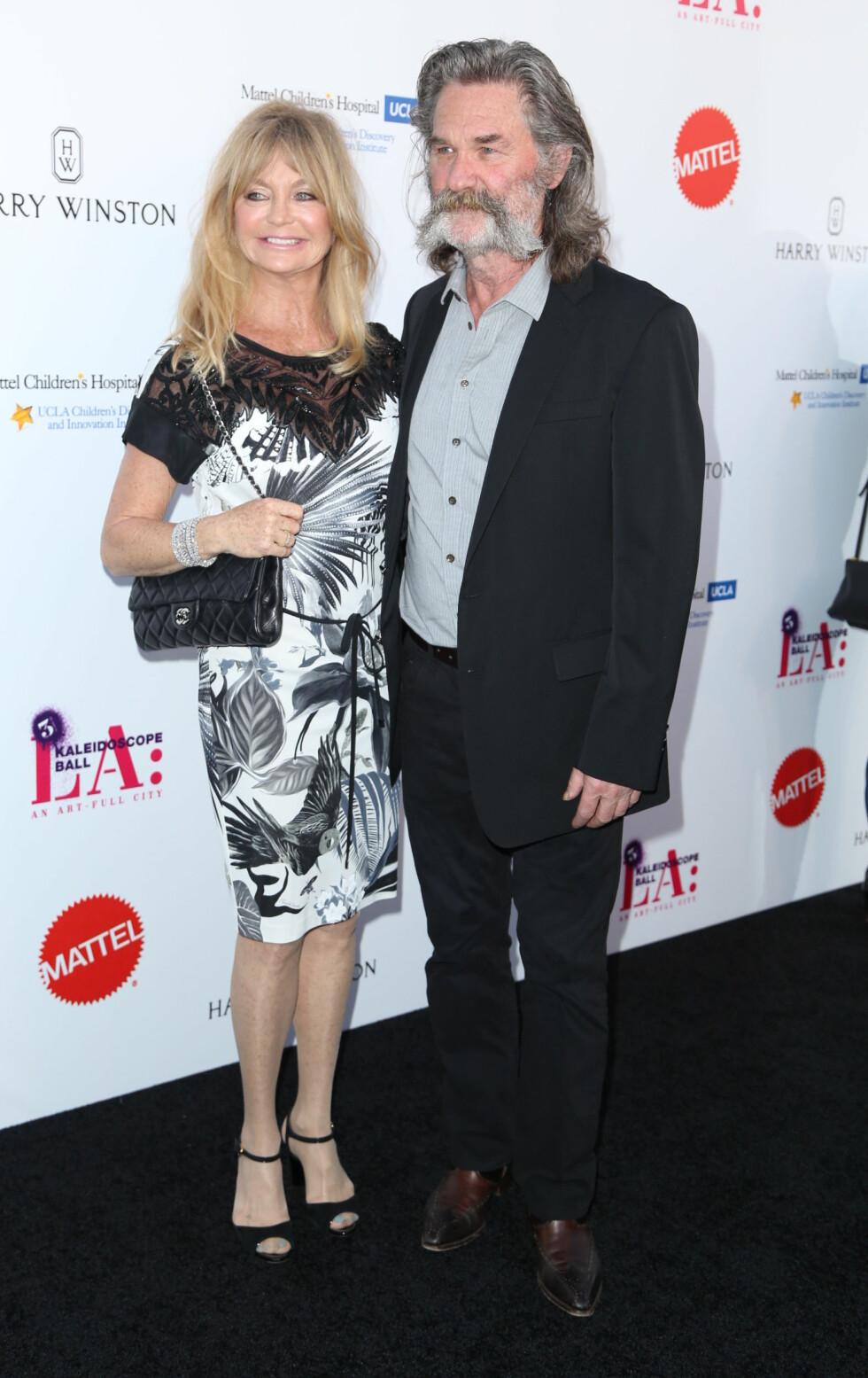SAMMEN I 32 ÅR: Goldie Hawn og Kurt Rusell forelsket seg under innspillingen av filmen «Swing Shift».   Foto: wenn.com