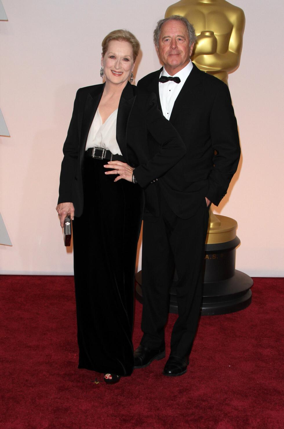 SAMMEN i 37 ÅR: Meryl Streep og Don Gummer giftet seg i 1978 i hjemmet til foreldrene til Meryl på Mason's Island i Connecticut. Foto: wenn.com