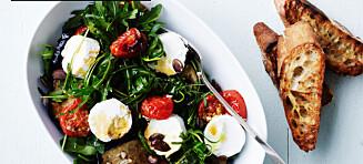 Salat med chevre og bakte tomater