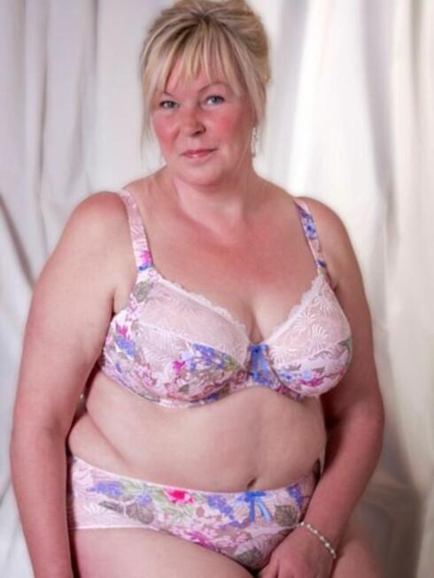 LA UT BILDE AV SEG SELV: Dette er bildet Mork la ut av seg selv på Facebook for å vise at alle kvinner er flotte, uansett form og fasong.  Foto: Per Olof Mork