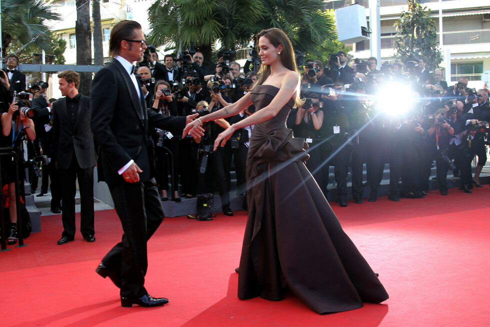 Skuespiller Angelina Jolie sammen med ektemannen Brad Pitt, 2011.E Foto: Scanpix
