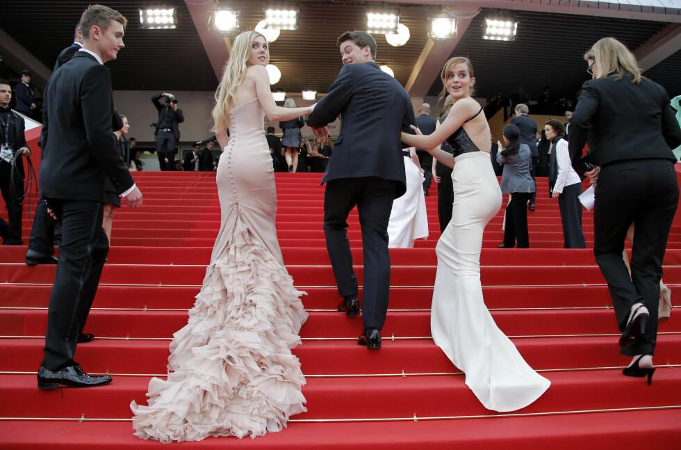 Skuespillere Claire Julien (til venstre) og Emma Watson, 2013. Foto: Scanpix