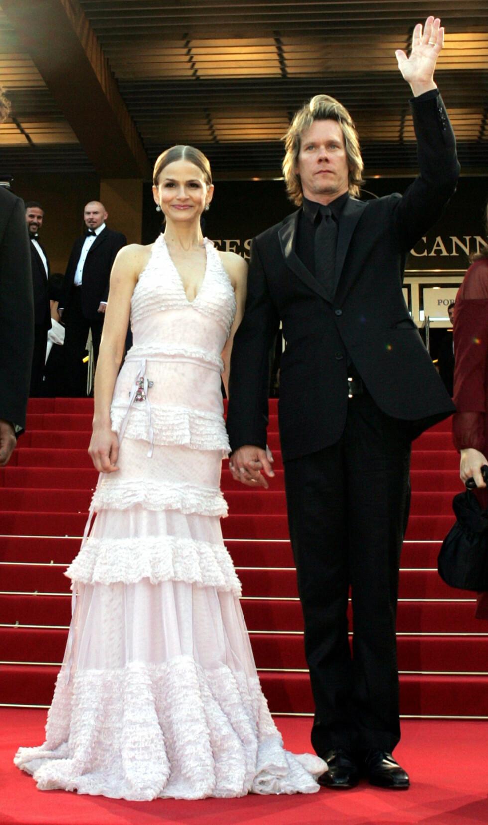 Skuespiller Kyra Sedgwick sammen med ektemann Kevin Bacon, 2004.    Foto: Scanpix