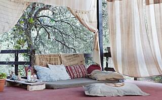 Bor og sover utendørs