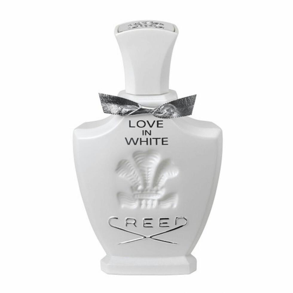 250 ÅR: Love in White (Creed, Eau de Perfum 75 ml, kr 900). Foto: Produsenten
