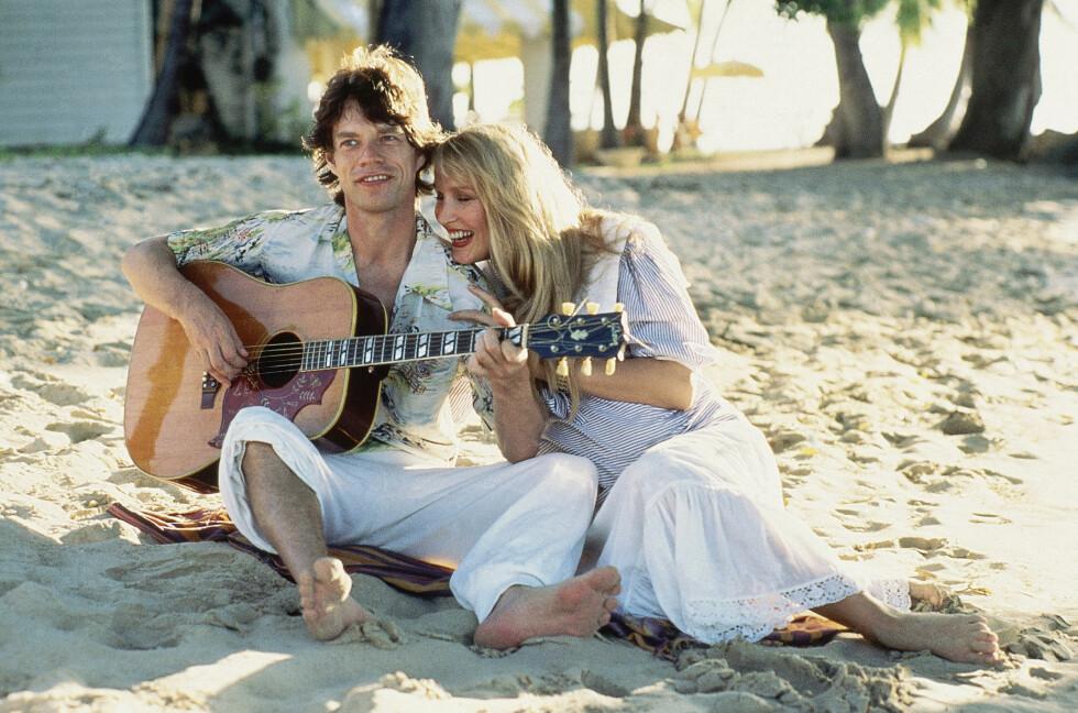 PAR: Jerry Hall og Mick Jagger var sammen i 23 år. De to har fire barn sammen. Foto: Scanpix