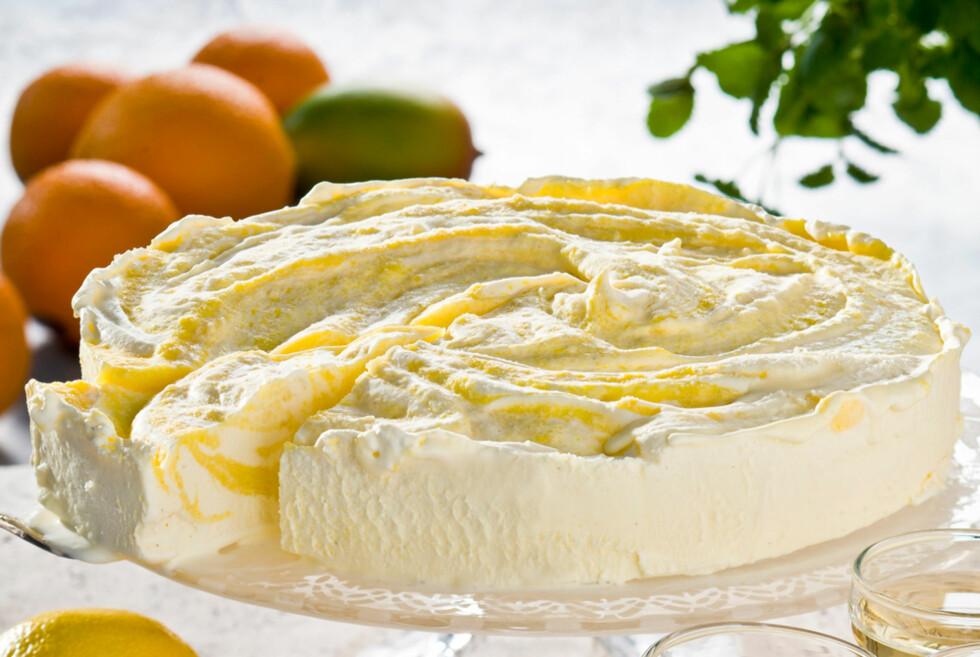 Sitron-is med mangofyll