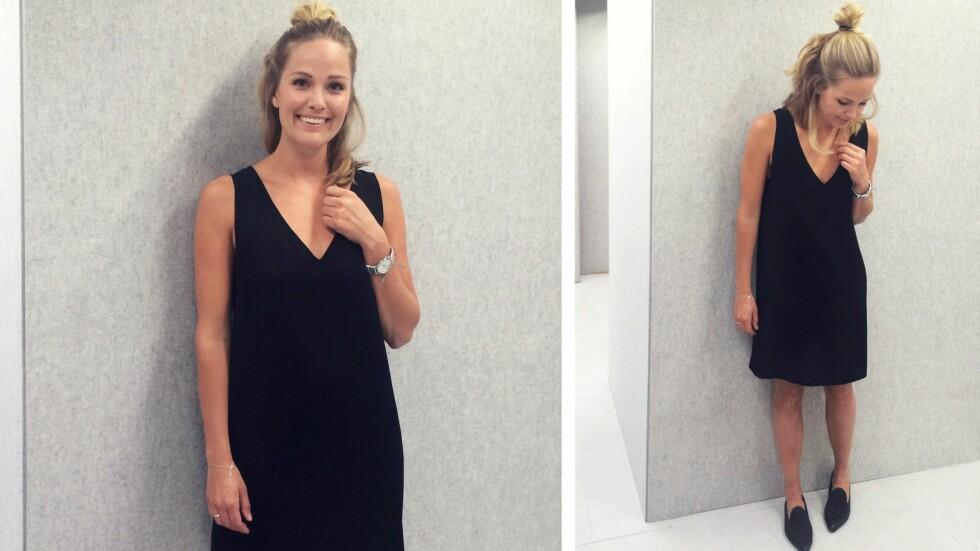 DAGENS BLOGGSTIL: Maria SKappel viser hvordan du kan bruke kjolen til hverdags!  Foto: Mariaskappel.no