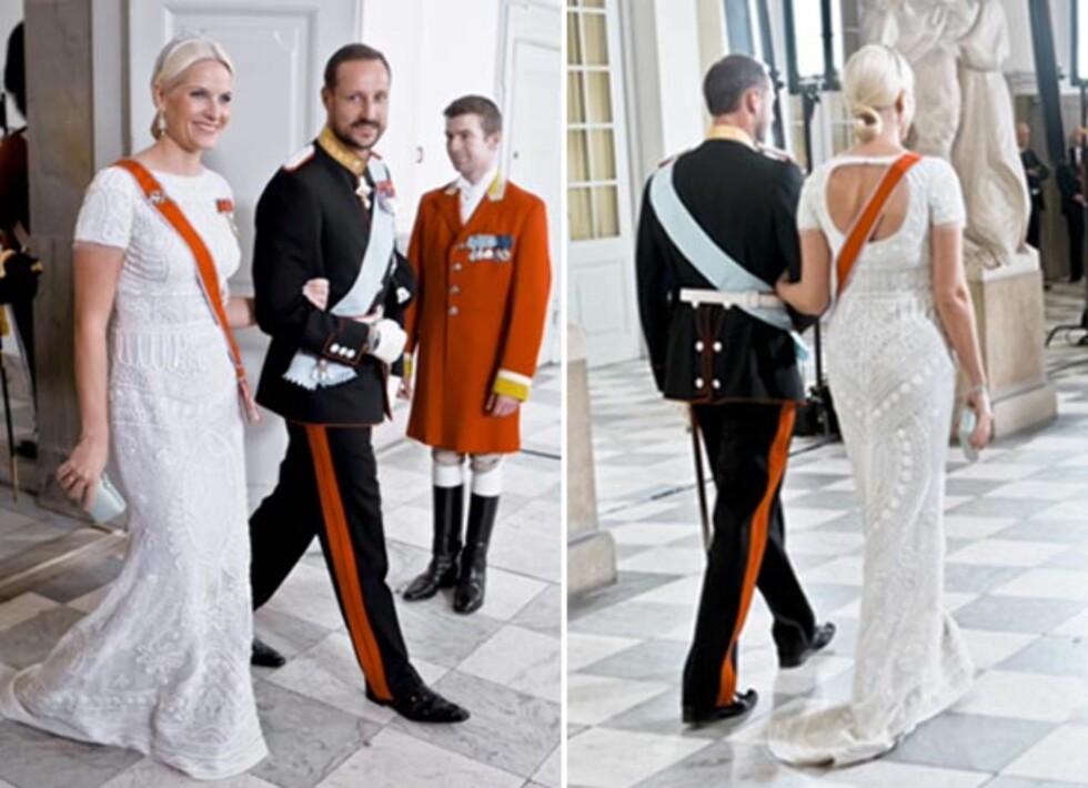 <strong>KJOLEDRØM:</strong> Denne kjolen, signert Peter Dundas for Emilio Pucci, er blant kjolene Mette-Marit har fått aller mest skryt for. Foto: NTB Scanpix