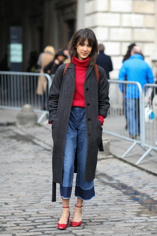 Buksene var å se flere ganger under moteuken i London.  Foto: Scanpix