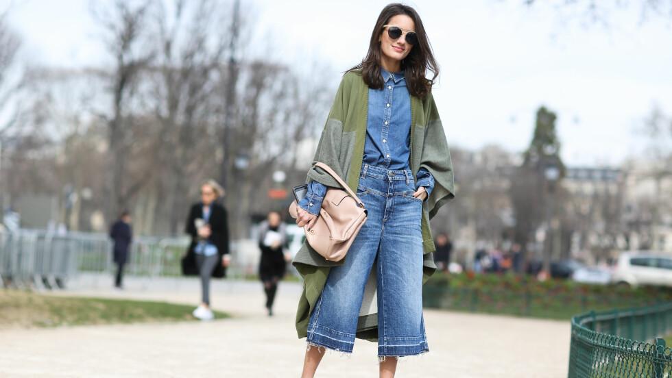 <strong>DENIM-CULOTTES:</strong> De heteste buksene du kan bruke akkurat nå er ikke akkurat en favoritt blant gutta. Foto: Scanpix
