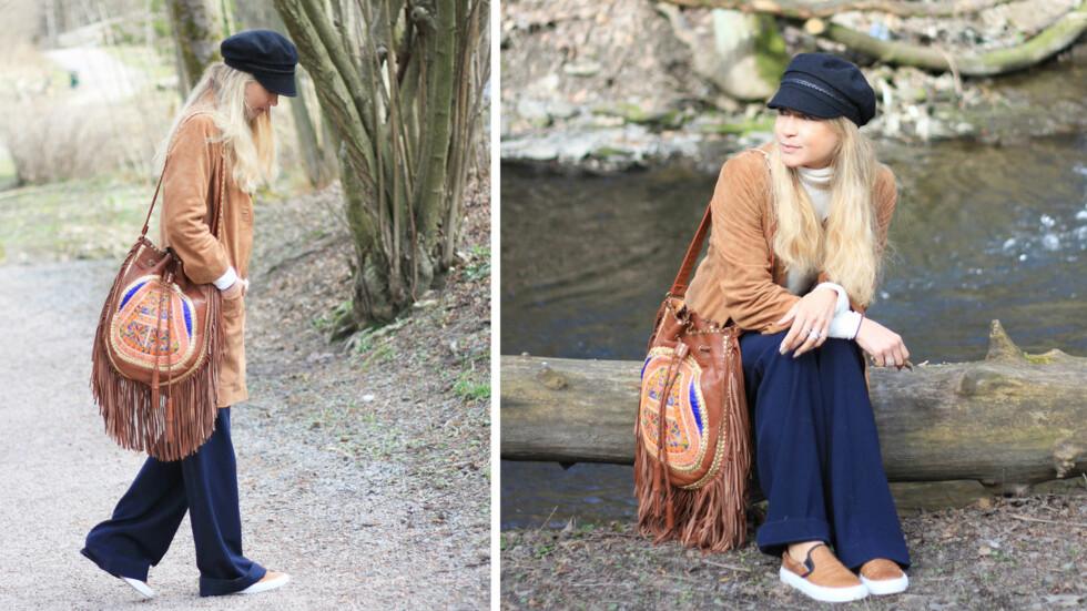 DAGENS BLOGGSTIL: STYLEmag-blogger og stylist Line Langmo viser hvordan du kan kle deg i sesongens heteste trend. Foto: Linelangmo.no
