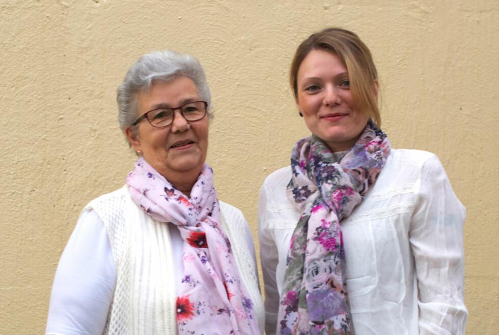 SAMME DIAGNOSE: – Vi kan ikke gjøre alt, men har lært oss å prioritere, sier Martha (70) og Gro (36). Begge sliter med  lavt stoffskifte. Foto: Foto: Irene Jacobsen