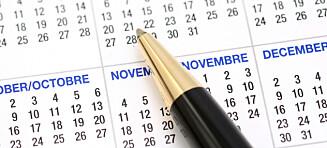 Er kalenderen alltid full?