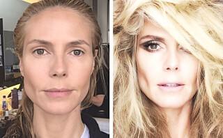 Heidi Klum (41) viser seg før og etter styling