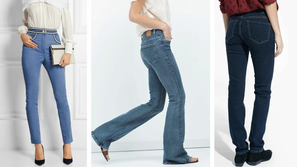 JEANS TIL DIN KROPP: Å finne de perfekte jeansene er en evig jakt for de fleste kvinner. Vi hjelper deg på vei!  Foto: Produsentene, Net-a-porter.com