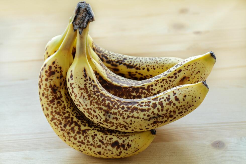 OVERMODNE BANANER: Bananer med giraffmønster er store bruksområder, skal vi tror matbloggere.  Foto: Fotolia