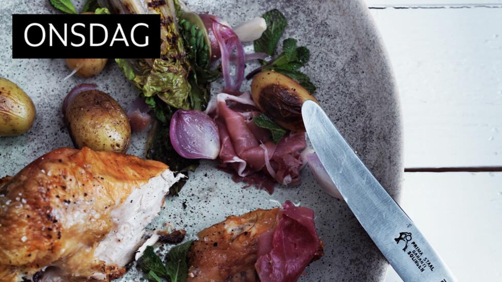 PRØV DET: Stekt salat høres kanskje litt rart ut, men gi det en sjanse! Foto: All Over Press