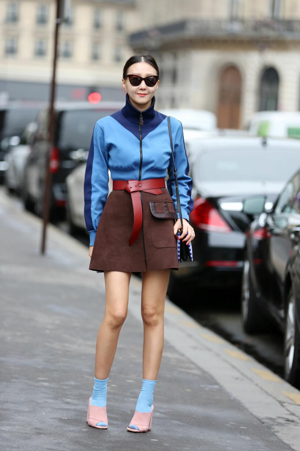 Sokkene skal gjerne synes godt, og stå i kontrast med fargen på skoene.  Foto: All Over