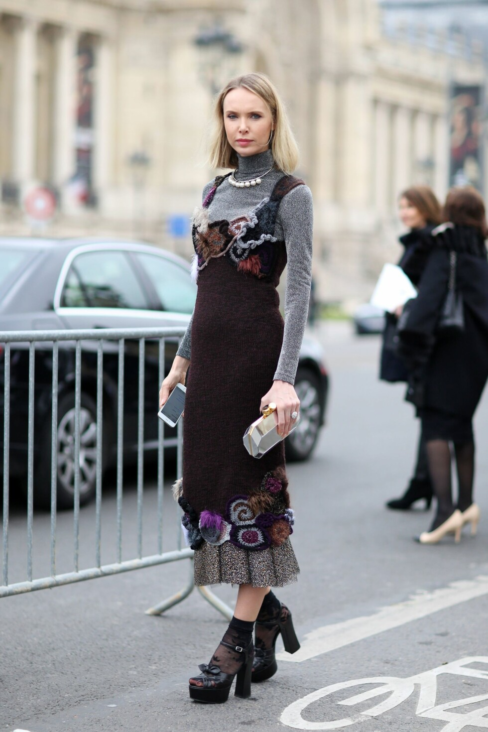 Blondesokker er også en trend blant fashionistaene.  Foto: All Over