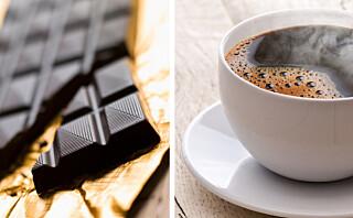 Sjokolade og kaffe er ja-mat