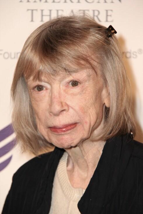FRONTFIGUR: Joan Didion var frontfigur for Célines siste kampanje.   Foto: Carolyn Contino/BEI/REX/All Over Press