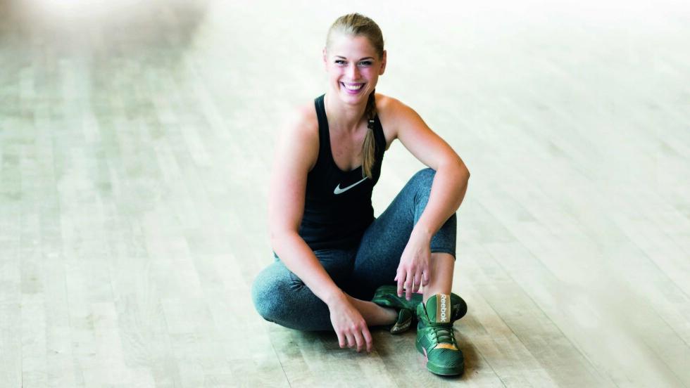 ANBEFALER TABATA: Marianne Dalgård er personlig trener og viser nedenfor fem øvelser som er perfekt når du vil trene tabata.  Foto: Nellie Møbergn/All Over Press