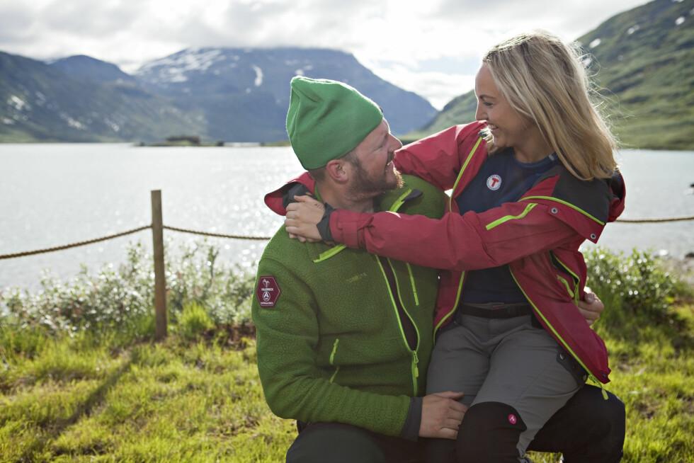 SINGEL: Er du singel og på fjelltur kan du dra nytte av å ta på deg en grønn lue. Foto: DNT/Elin Hansson
