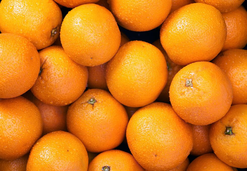 APPELSIN ER BRA FOR KVINNER: Appelsin bedrer jernopptaket vårt, noe som er spesielt gunstig for oss kvinner. Foto: jillchen - Fotolia
