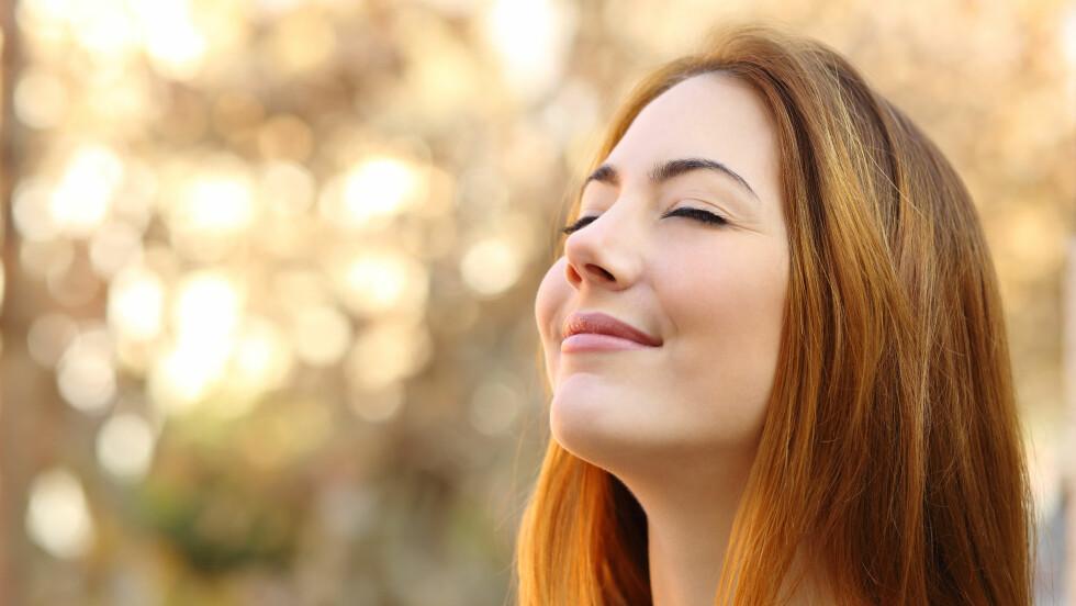 PUSTEØVELSER: Visste du at enkelte pusteøvelser kan redusere stress, dårlig søvn og hodepine?  Foto: Antonioguillem - Fotolia