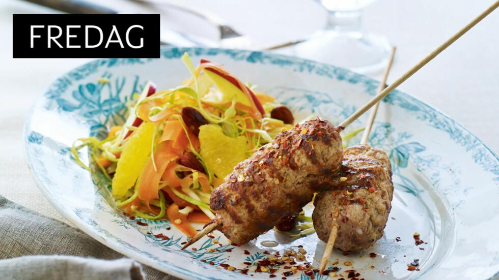 SUNNERE KEBAB: Hjemmelaget kebab er et herlig alternativ til fredagstacoen! Foto: All Over Press