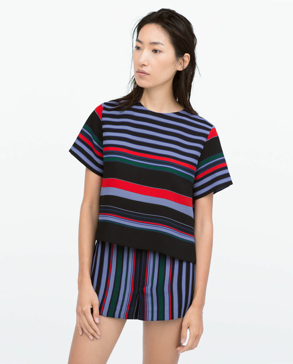 Topp og shorts fra Zara, begge 399 kr. Foto: Produsenten.