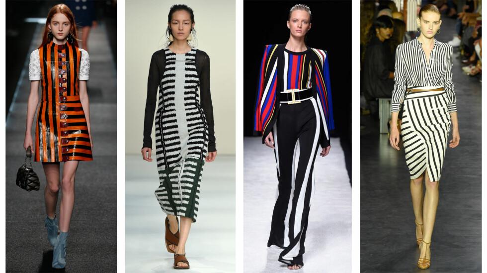 <strong>FRA CATWALKEN:</strong> Louis Vuitton, Marni, Balmain og Altuzarra. Foto: All Over