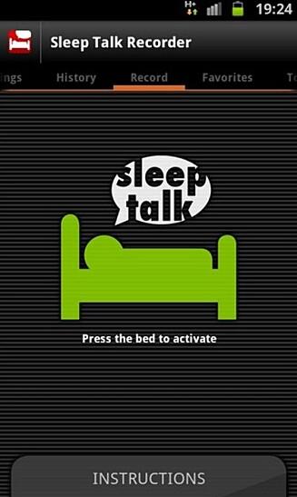 OPPTAK: Sleep Talk Recorder til mobiltelefonen. Foto: Faksimile