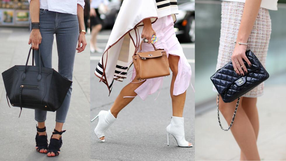 <strong>TIDLIGERE VINNERE:</strong> Céline, Hermes og Chanel har alle laget vesker som står høyt på ønskelisten til kvinner over hele verden. Foto: All Over