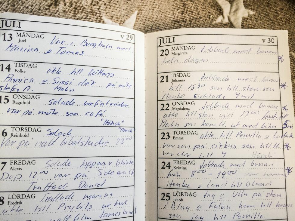 Lena var så redd for faren sin at hun ikke turte å skrive i dagboken om det som skjedde henne flere ganger i uka – hun bare skrev «hendte».   Foto: Rickard L. Eriksson/ All Over Press