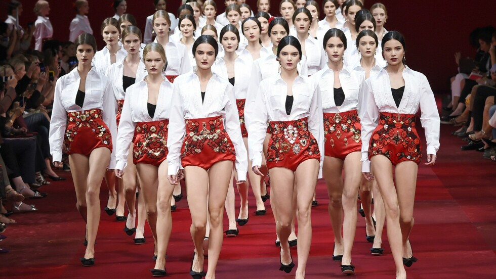 ROMANTISK: La deg inspirere av kolleksjonen til Dolce & Gabbana. Foto: Rinaldo Veronelli / Splash News/ All Over Press