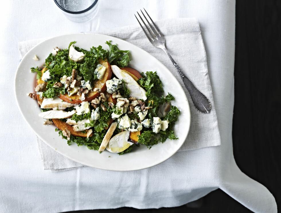 SUNN OG GOD: Grønnkål er en gammel grønnsak som er full av sunne saker. Foto: All Over Press