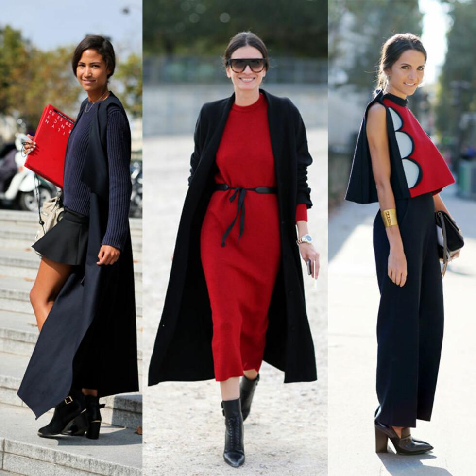 EN KLASSIKER: Kombiner rødt med svart eller mørkeblått og du er klar! Foto: All Over